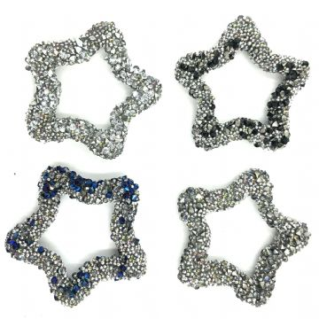 Star shaped beaded crystal shape 28mm